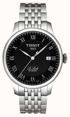 Tissot Mens le locle powermatic 80 czarna tarcza ze stali nierdzewnej T0064071105300