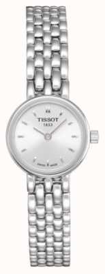 Tissot Damska urocza bransoleta ze stali szlachetnej platerowana srebrną tarczą T0580091103100