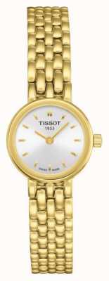 Tissot Damska śliczna pozłacana bransoletka platerowana srebrną tarczą T0580093303100