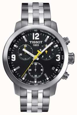 Tissot Męski chronograf PRC 200 z czarną tarczą dwukolorową T0554171105700