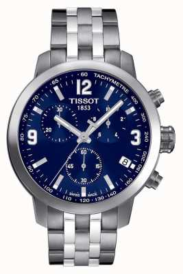 Tissot Męskie prc 200 chronografu niebieska tarcza dwukolorowa T0554171104700