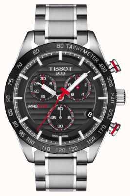 Tissot Męska bransoleta ze stali nierdzewnej z chronografem PRS 516 z czarną tarczą T1004171105101