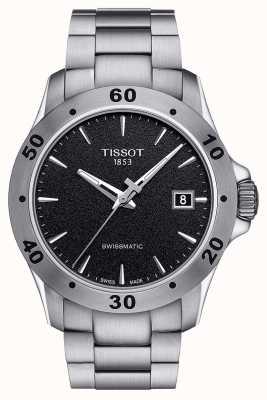 Tissot Mens v8 swissmatic czarna tarcza ze stali nierdzewnej bransoleta T1064071105100