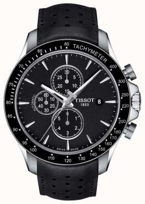 Tissot Mens v8 swissmatic chronograph czarna tarcza czarna skóra T1064271605100