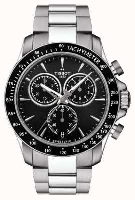 Tissot Męski kwarcowy chronograf v8 ze stali nierdzewnej, czarna tarcza T1064171105100