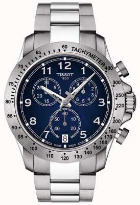 Tissot Męski zegarek kwarcowy v8 z niebieską tarczą ze stali nierdzewnej T1064171104200