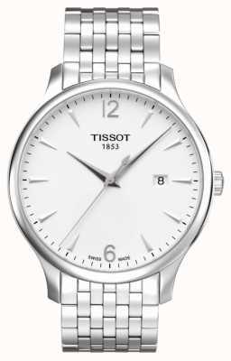 Tissot Męska tradycja ze stali nierdzewnej bransoletka srebrna tarcza T0636101103700