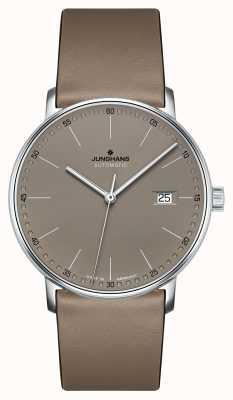 Junghans Utwórz automatyczny zegarek z brązowego skórzanego paska 027/4832.00