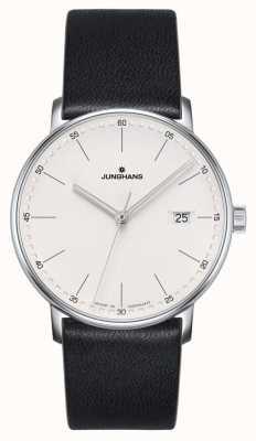 Junghans Tworzą zegarek z czarnej skóry kwarcowej 041/4884.00