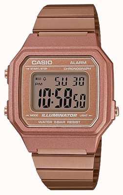 Casio Klasyczny oświetlacz cyfrowy w stylu vintage w kolorze różowego złota B650WC-5AEF