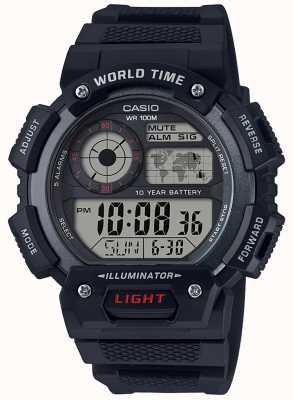 Casio Chronograf alarmowy czasu światowego AE-1400WH-1AVEF
