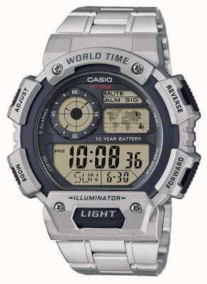 Casio Chronograf alarmowy czasu światowego AE-1400WHD-1AVEF