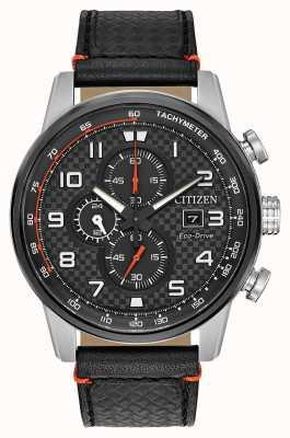 Citizen Męska data chronografu sportowego wyświetla 24-godzinne pokrętło wybierania CA0681-03E