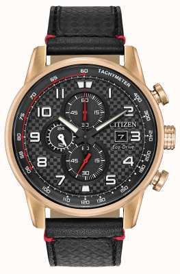 Citizen Męska data chronografu sportowego wyświetla 24-godzinne pokrętło wybierania CA0683-08E