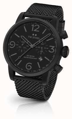 TW Steel Maverick kaliber czarna bransoleta z chronografem czarna tarcza MB33
