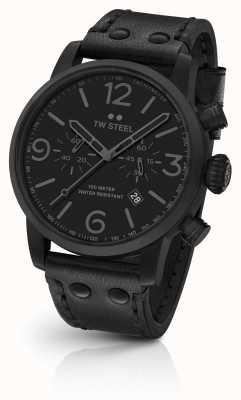 TW Steel Maverick kaliber chronograf czarny skórzany pasek czarna tarcza MS114