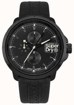 Superdry Kioto ranger czarny pasek czarna tarcza SYG218BB