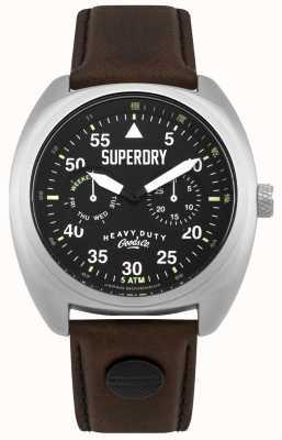 Superdry Scout aviator data i dzień wyświetla czarny pasek SYG229BR