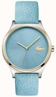Lacoste Błękitny pasek wybierania dwóch odcieni niebieskiego skórzanego paska 2001012