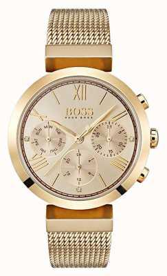 Hugo Boss Zegarek damski z wielofunkcyjnym, klasycznym sportowym złotem 1502425