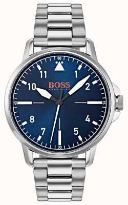 Hugo Boss Orange Niebieska bransoleta ze stali nierdzewnej 1550063
