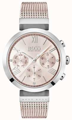 Hugo Boss Chronograf różowy dzień i datę pod tarczą 1502426