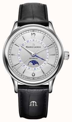 Maurice Lacroix Les classiques mens moonphase czarny skórzany pasek LC6168-SS001-120-1