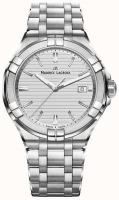 Maurice Lacroix Mens aikon ze srebra kwarcowego ze stali nierdzewnej AI1008-SS002-131-1