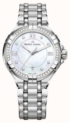 Maurice Lacroix Damska bransoleta ze stali szlachetnej aikon z masy perłowej AI1006-SD502-170-1
