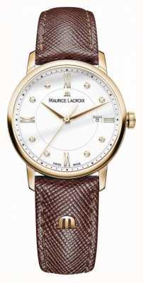 Maurice Lacroix Damski skórzany pasek z brązowej skóry w kolorze eliros EL1094-PVP01-150-1