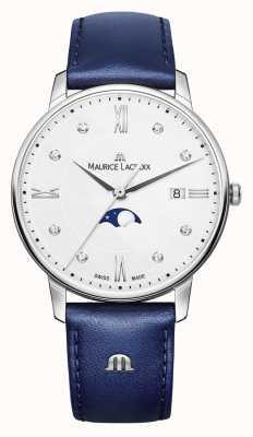 Maurice Lacroix Eliros moonfase niebieski skórzany pasek srebrna tarcza EL1096-SS001-150-1