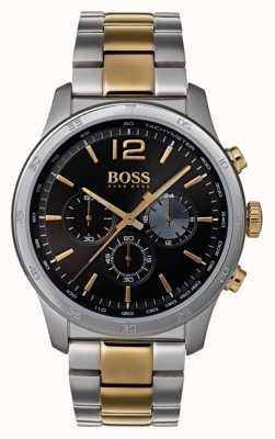 Boss Męski profesjonalny zegarek chronografowy z dwukolorową bransoletką 1513529