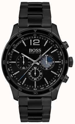 Hugo Boss Męski, profesjonalny zegarek z chronografem z pozłacaną bransoletką 1513528