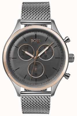 Boss Męski zegarek chronografu szary 1513549