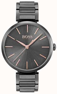 Hugo Boss Zegarek damski z czarnej, stalowej stali 1502416
