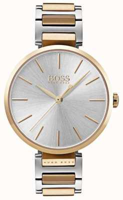 Hugo Boss Aluminiowy zegarek damski z dwukolorowej stali 1502417