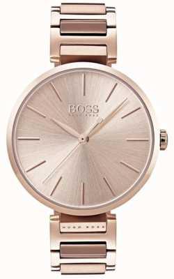 Hugo Boss Aluminiowa bransoleta z różowego złota 1502418