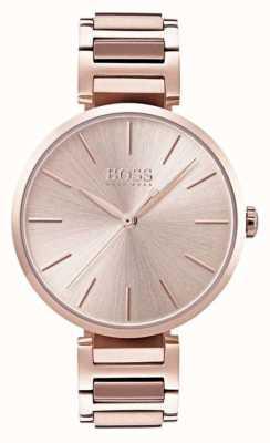 Boss Aluminiowa bransoleta z różowego złota 1502418