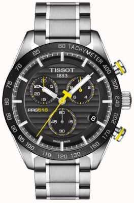 Tissot Mens prs 516 chronograf czarna tarcza ze stali nierdzewnej bransoleta T1004171105100