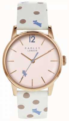 Radley Damska vintage zegarka kropka różowy wybierania RY2566