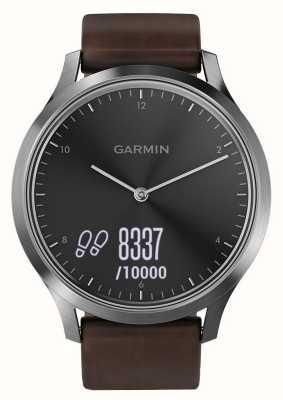Garmin Vivomove hr (duży) urządzenie do śledzenia aktywności premium ze stali i skóry 010-01850-04