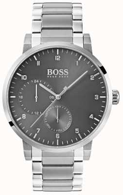 Hugo Boss Męski zegarek z tlenku szarego ze stali nierdzewnej 1513596