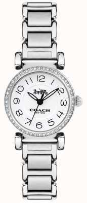 Coach Damska madison zegarek ze stali bransoleta biała tarcza 14502851