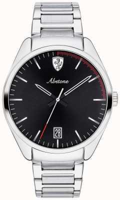 Scuderia Ferrari Męski bransoleta ze stali szlachetnej, zegarek z czarną tarczą 0830502
