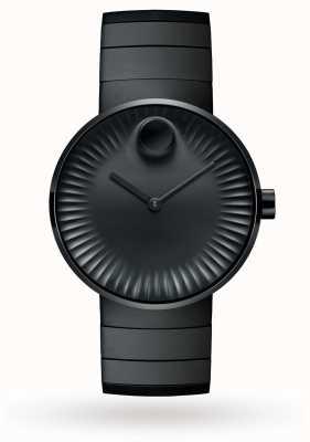 Movado Męski zegarek z czarnej stali jonitowej 3680007