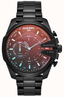 Diesel Mens megachief hybrydowy zegarek z żelazną bransoletką DZT1011