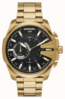 Diesel Mężczyzna megachief hybrydowy zegarek Smartwatch z złotą bransoletą DZT1013