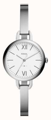 Fossil Damski zegarek anonimowy ze srebrnym nadrukiem ES4390