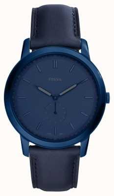 Fossil Męskie minimalistyczny niebieski skórzany pasek zegarka FS5448