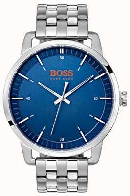 Hugo Boss Orange Sztokholm męska niebieska tarcza ze srebra ze stali nierdzewnej 1550076